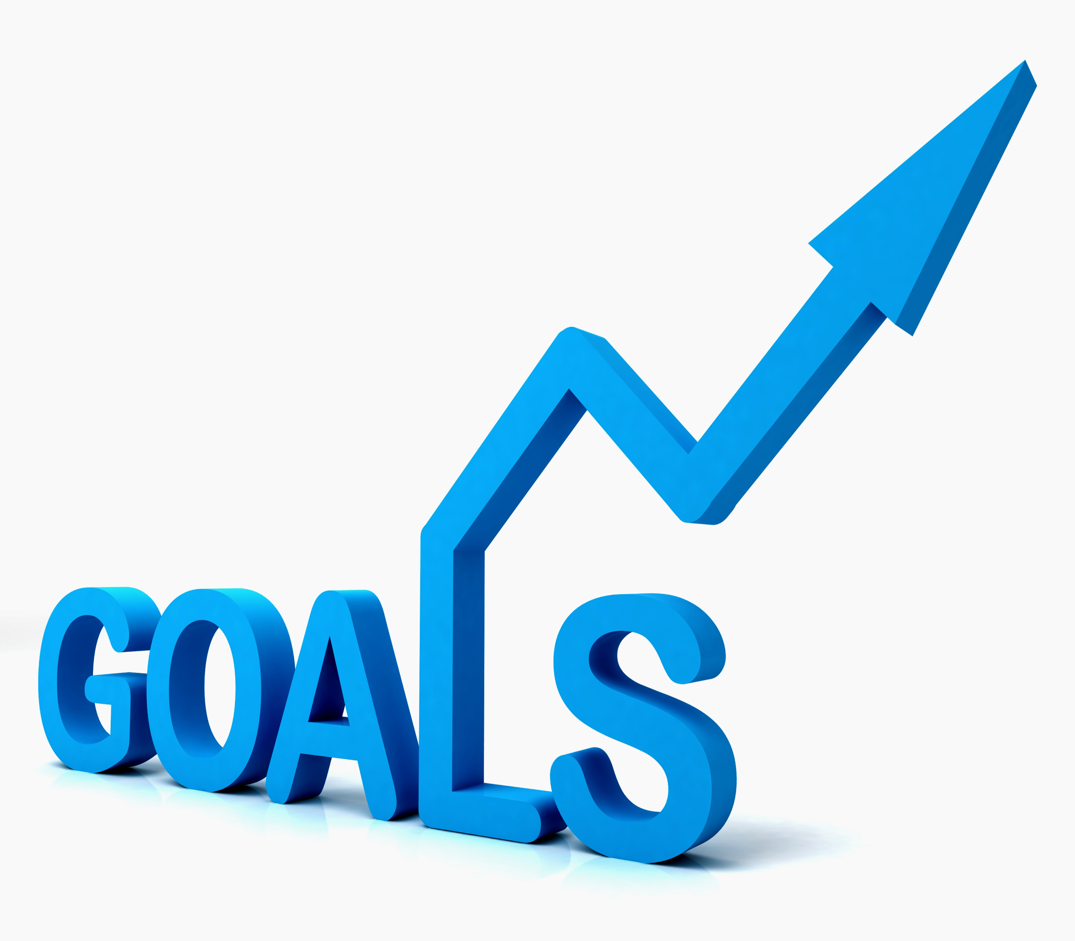 blue goals word shows objectives hope and future from clip art devilish clip art devil horns