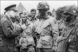 Ike and troops